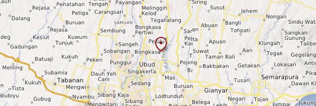 Carte Ubud et le centre - Bali