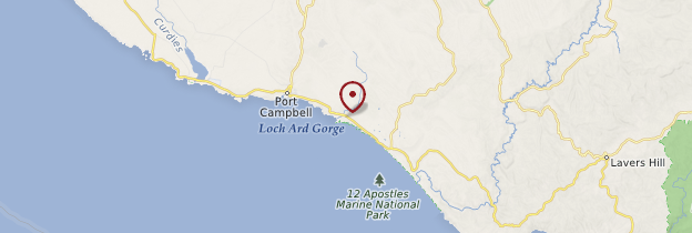 Carte Port Campbell National park - Australie
