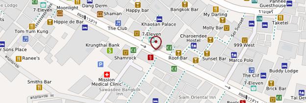 Carte Khao San Road - Bangkok