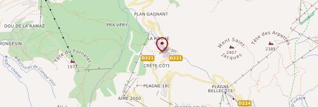 Carte La Plagne - Alpes
