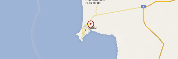 Carte Broome - Australie