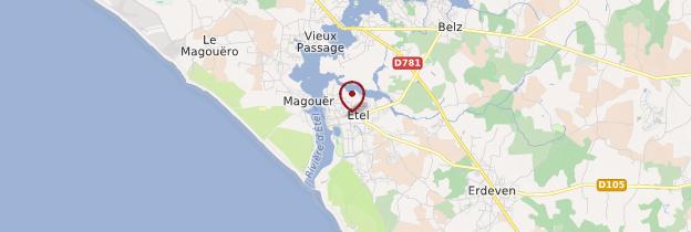 Carte Étel (An Intel) - Bretagne