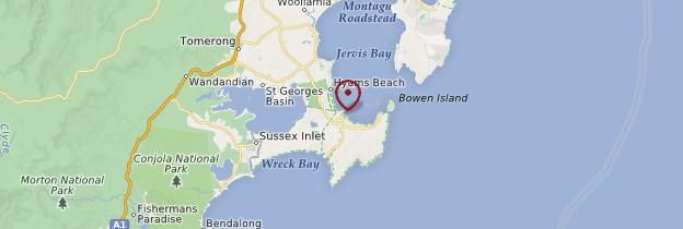 Carte Jervis Bay - Australie