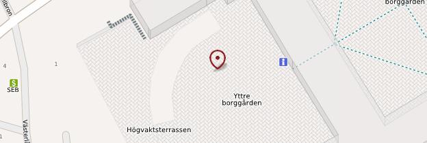Carte Kungliga Slottet (Château royal) - Stockholm