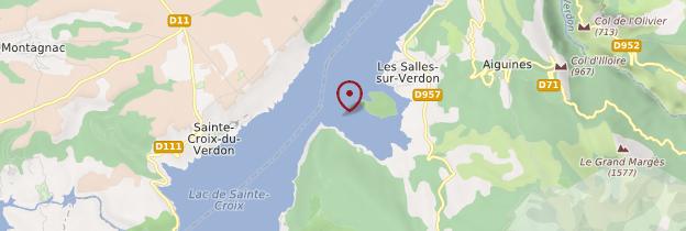 Carte Lac de Sainte-Croix - Provence