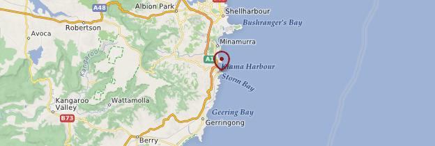 Carte Kiama - Australie