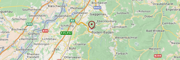 Carte Baden-Baden - Allemagne