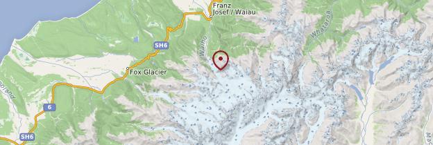 Carte Franz Joseph Glacier - Nouvelle-Zélande