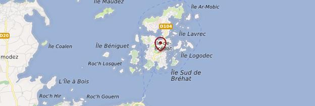 Carte Île de Bréhat - Bretagne