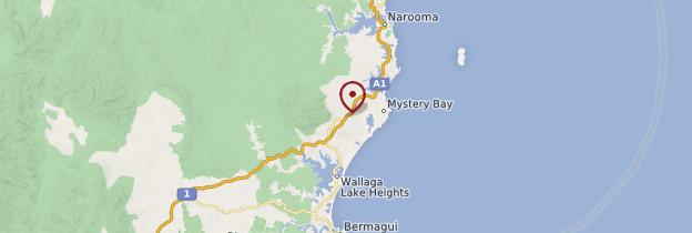 Carte Central Tilba - Australie