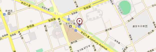 Carte Pudong - Shanghai