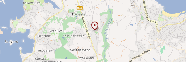 Carte Trégastel (Tregastell) - Bretagne