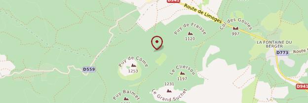 Carte Puy de Côme - Auvergne