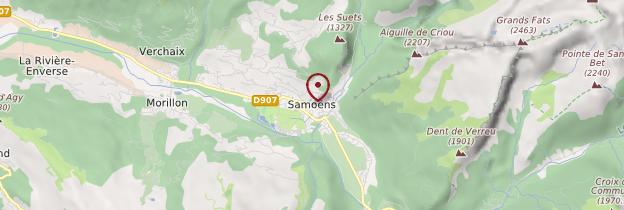 Carte Samoëns - Alpes