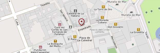 Carte Cathédrale - Cuba