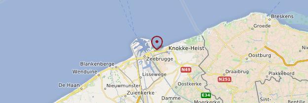 Carte Knokke-Heist - Belgique