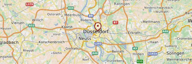 Carte Düsseldorf - Allemagne