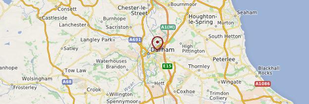 Carte Durham - Angleterre