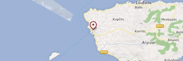 Carte Île d'Égine - Îles grecques