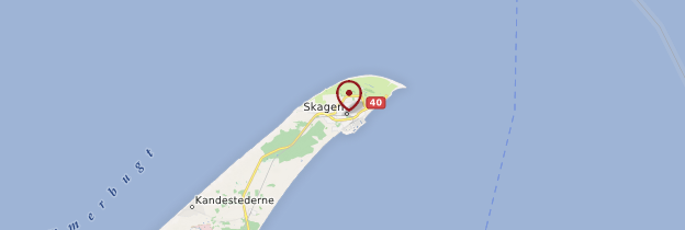 Carte Skagen - Danemark