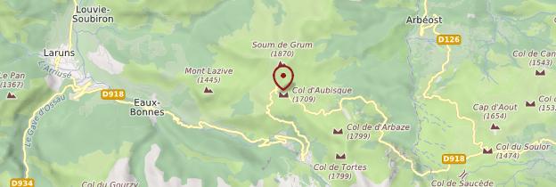 Carte Col d'Aubisque - Pays basque et Béarn