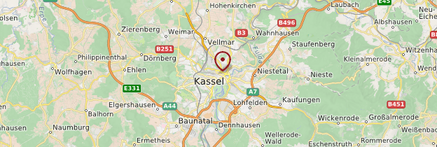 Carte Kassel (Cassel) - Allemagne