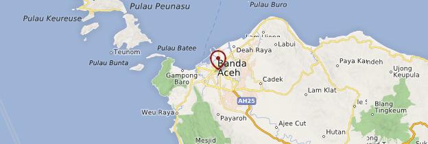 Carte Banda Aceh - Indonésie