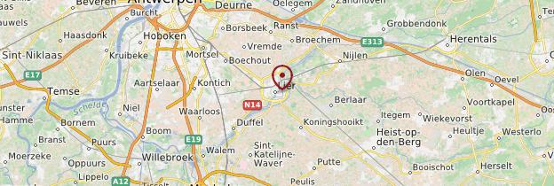 Carte Lierre - Belgique