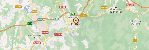 Carte Thiers - Auvergne