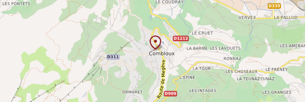 Carte Combloux - Alpes
