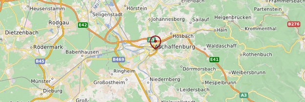 Carte Aschaffenburg - Allemagne