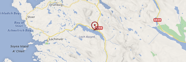 Carte Loch Assynt - Écosse