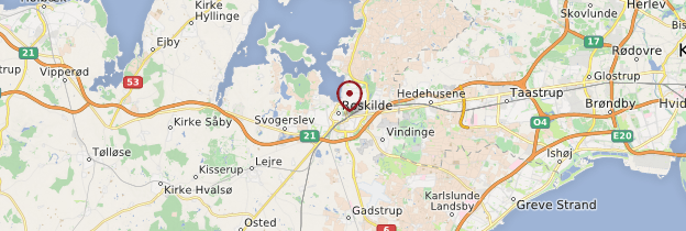 Carte Roskilde - Danemark