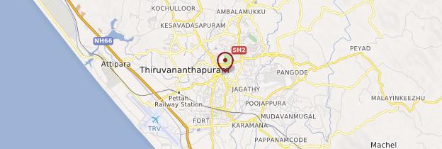 Carte Thiruvananthapuram (Trivandrum) - Kerala