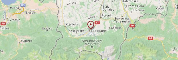 Carte Zakopane - Pologne