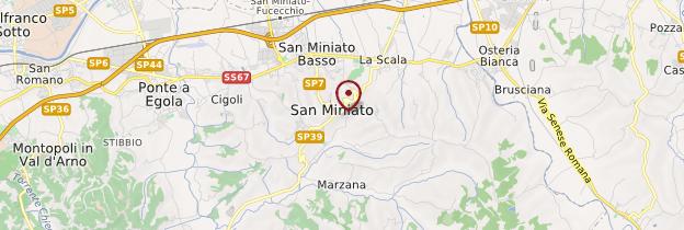 Carte San Miniato - Toscane
