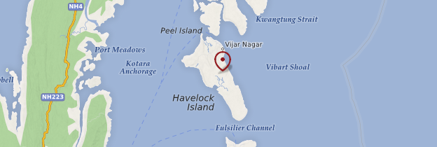 Carte Île de Havelock - Inde
