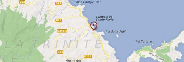 Carte Sainte-Marie - Martinique