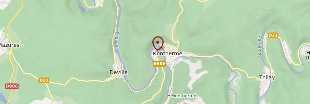 Carte Monthermé - Champagne-Ardenne