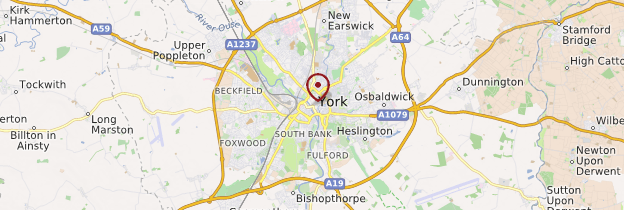 Carte York - Angleterre