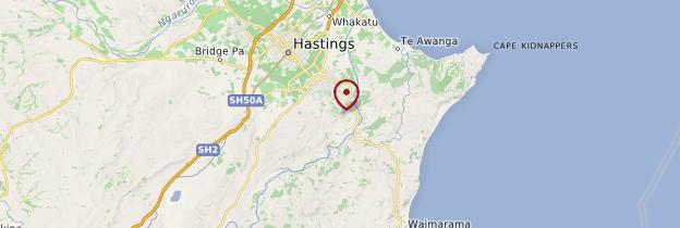 Carte Te Mata Peak - Nouvelle-Zélande