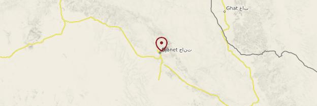 Carte Djanet - Algérie