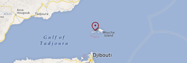 Carte Ile de Maskali - Djibouti