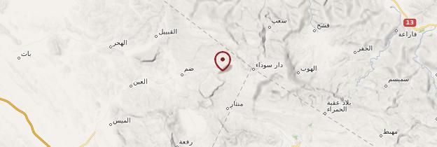 Carte Misfah - Oman