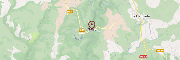 Carte Gorges de l'Aveyron - Midi toulousain - Occitanie