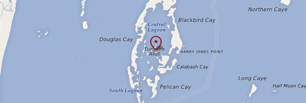 Carte Turneffe Atoll - Belize