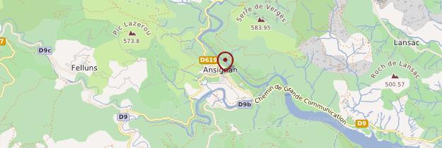 Carte Ansignan - Languedoc-Roussillon