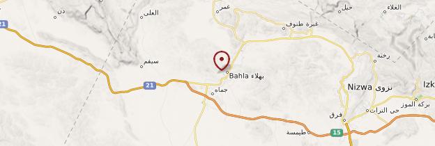 Carte Fort de Bahla - Oman