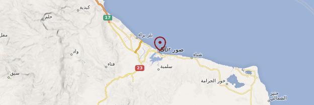 Carte Sur - Oman