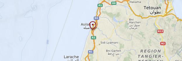 Carte Asilah - Maroc
